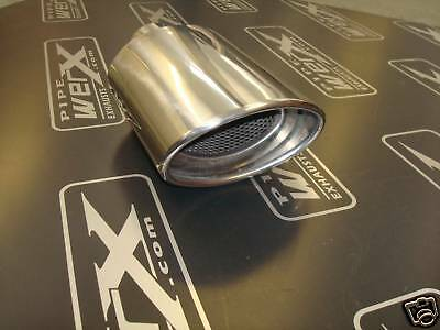 """Stainless Steel Exhaust Tail Trim 6""""x4"""" oval"""