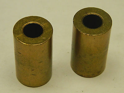 "New Lot Of 2 No Name Brass/ Bronze Bushing 3/8""id 3/4""od 1-5/16""hieght"