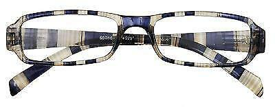 Reading Glasses Neutral Stripe Spectacles Stylish Different Lens Strengths