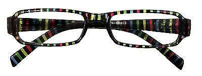 Reading Glasses Sweet Stripe Multi Colours Spectacles Different Lens Strengths