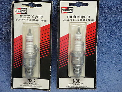 champion n3c stock 801 snowmobile motorcycle copper spark plug Harley honda