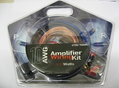 Connects2 10AWG 400w Amplifier Amp Wiring Kit Sub 6x9 tweeters