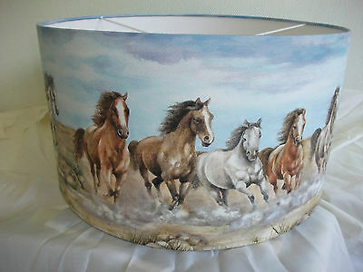 Lampshade Made From Wild Horses Wallpaper Boder.