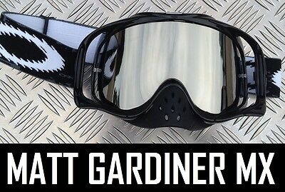 SILVER MIRROR LENS to fit OAKLEY CROWBAR MOTOCROSS MX GOGGLES tear off