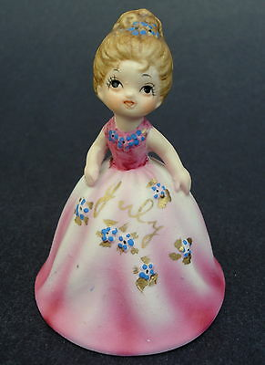Vtg Collector BELL Princess JULY Pink Gown Birthday Girl Bisque Porcelain