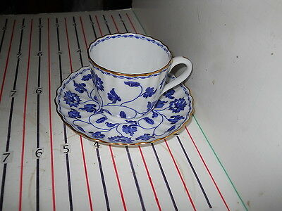 SPODE COLONEL BLUE  CUP AND SAUCER   OLDER STAMP