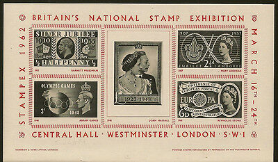 EXHIBITION SHEET : 1962 Stampex