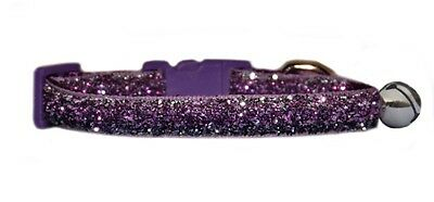 "purple  and lilac  sparkle kitten safety  collar  5""-7"""