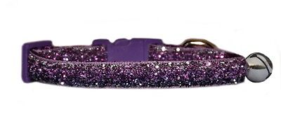 "purple  and lilac  sparkle kitten cat safety  collar  7""-10"""
