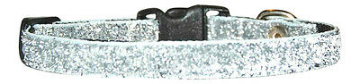 """Silver   Sparkle Chihuahua  Dog/puppy Collar 7""""-10"""""""