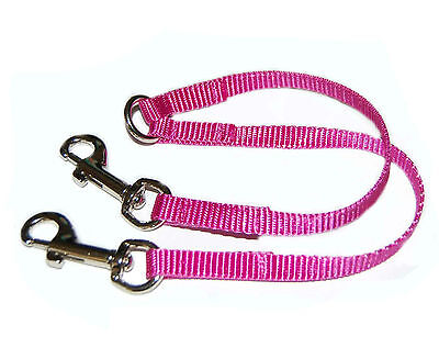 CERISE PINK  2 WAY CHIHUAHUA  DOG/PUPPY COUPLER/LEAD webbing