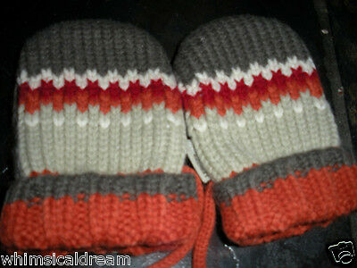 Jean Bourget boys mittens NWT T2 & T3 ( 2 - 4 years) French designer wear