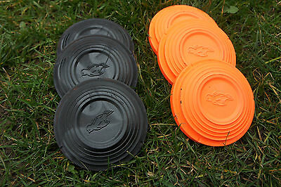 Standard Clay Pigeon Targets, Clays,black/orange Clay Throwing Target, Lay 110Mm