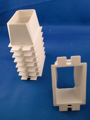 PVC Outlet Extender Box Single Gang Arlington BE1 - Lot of 8