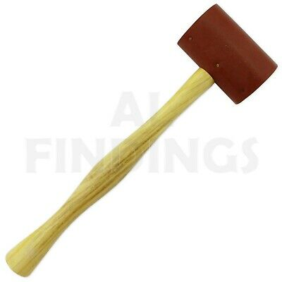 "1 3/4"" Jewellers Raw Hide Leather Mallet Hammer 44 Mm Head"