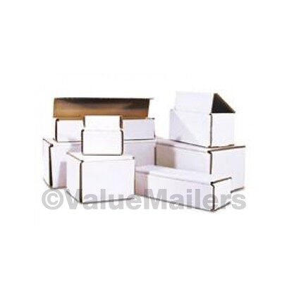 100 -  4x3x2 White Corrugated Shipping Mailer Packing Storage Box Boxes