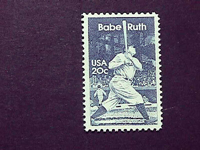 1983 Babe Ruth Postage Stamp Issued In His Honor, Mint, Nh Perfect Condition