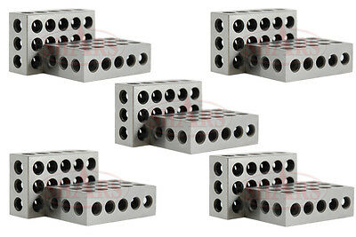 "Shars 5 Matched Pairs Ultra Precision 123 1-2-3 Blocks 23 Holes .0001"" Machinist"
