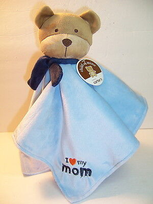 SECURITY BLANKET CARTER'S CHILD OF MINE - PUPPY DOG - BLUE - I LOVE MY MOM - NWT