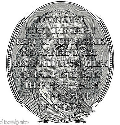 Benjamin Franklin Quote T Shirt - Occupy 99% Capitalism Greed Money Monetary