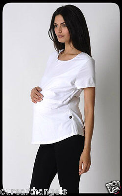 NEW *Madison Rose* MATERNITY White Nursing Tees Size 18 / XXL Comfy & Private