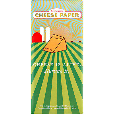 Formaticum Two-Ply Cheese Paper - Keep Cheese Alive and Tasty! - Labels Included