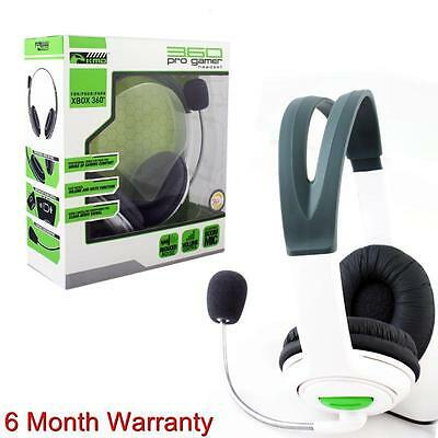 Komodo Live Pro Gamer Headset With Mic For Xbox 360 NEW WHITE