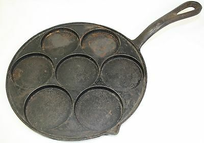 Antique Cast Iron Round Griddle Alfred Andresen Plett Pan Silver Dollar Pancakes