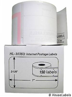 25 Rolls of 150 3-Part Internet Postage Labels for DYMO® LabelWriters® 30383
