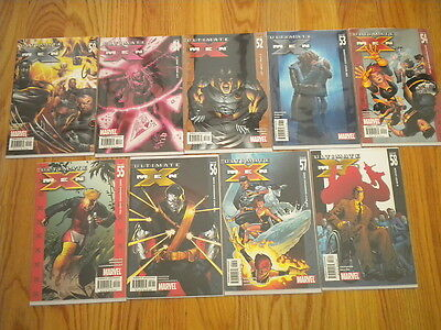 Marvel Comics Lot of 9 Ultimate X-Men Issues 50 51 52 53 54 55 56 57 58