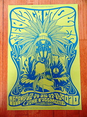 BLACK CROWES fillmore CONCERT POSTER collectible 13x19 blue