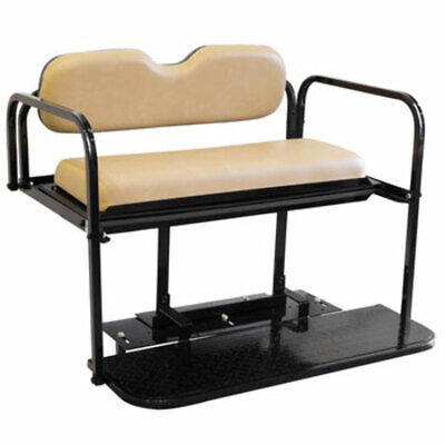 Club Car DS Golf Cart Flip Folding Rear Back Seat Kit - Buff