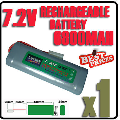 1 pcs 7.2V 6800mAh Ni-MH Batterie rechargeable RC accu