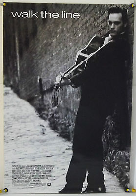 Walk The Line Ds Rolled Orig 1Sh Movie Poster Joaquin Phoenix Johnny Cash (2005)