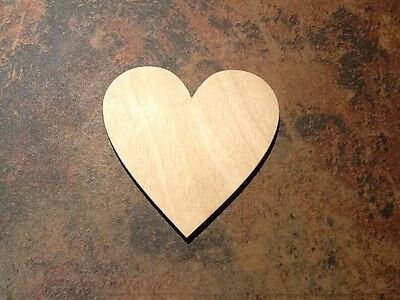 50x Birch Wooden Heart Shape. Embellishment or craft Tags 80 x 80mm *Pyrography*