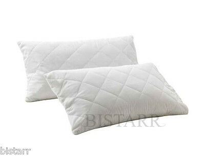 Pair Of Quilted Pillows - Super Firm Deluxe - Hollowfibre Filled - 4000+ Sold