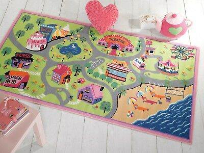 Matrix Childrens Girls World Washable Play Rug in Two Sizes