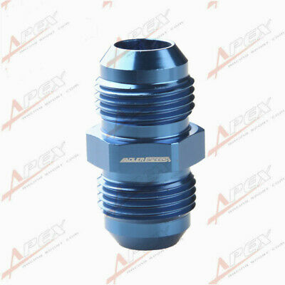 -8AN AN8 To AN8 AN-8 Aluminum Straight Male Union Fitting Adapter Blue