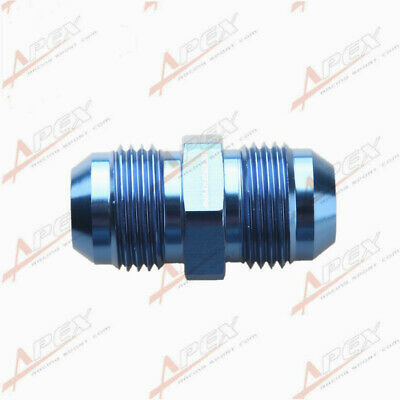 -10AN 10AN To AN10 AN-10 Aluminum Straight Male Union Fitting Adapter Blue
