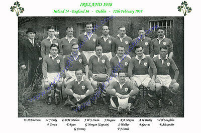 IRELAND 1938 (v England, 12th February) RUGBY TEAM PHOTOGRAPH