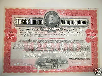 Lake Shore & Michigan Southern Railway $10,000 bond