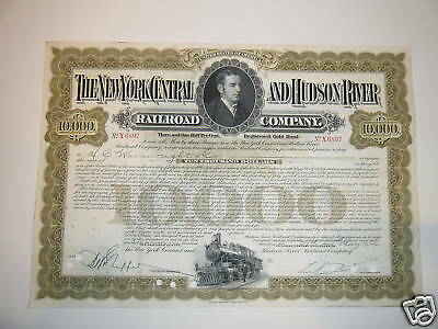 New York Central and Hudson River $10,000 Gold Bond