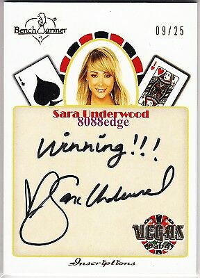 2012 Benchwarmer Vegas Baby Inscription Auto: Sara Underwood #9/25 Autograph 1/1