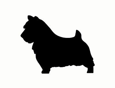 NORWICH TERRIER DOG metal steel not painted 7 inch USA silhouette