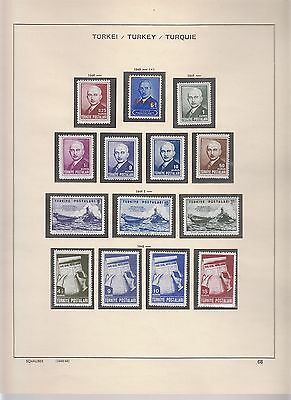Turkey 1948-1975 Solid Collection Close To Complete Superb Mnh