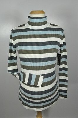 FINAL SALE - NEW Soft Maternity Career Casual Stripe Turtleneck Sweater - S M XL
