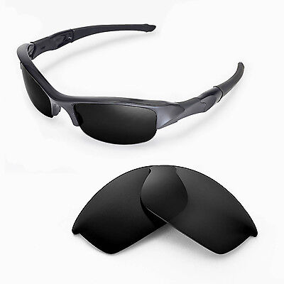 New Walleva Polarized Black Lenses For Oakley Flak Jacket