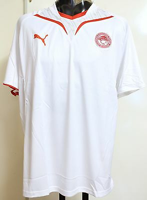 Olympiakos S/s  White Training Shirt By Puma Size Adults Xl Brand New With Tags
