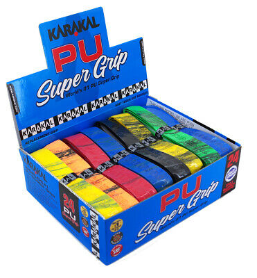 Karakal PU Universal Super Tennis Squash Badminton Replacement Grip 24 Pack