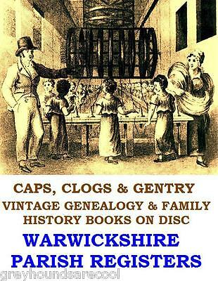 Warwickshire Parish Registers Warks Warwick Rugby Genealogy Family Research Disc